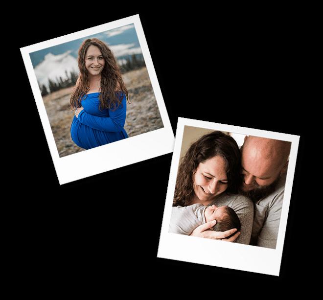 snapshot newborn maternity photos